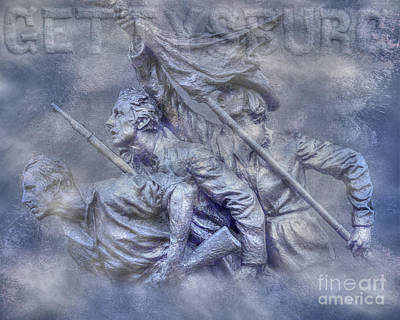 Digital Art - North Carolina At Gettysburg Ver Two by Randy Steele