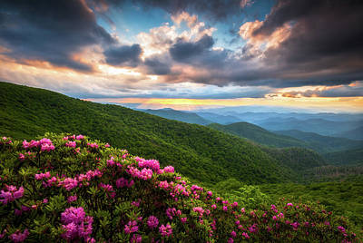 Great Smoky Mountains Photograph - North Carolina Blue Ridge Parkway Scenic Landscape Asheville Nc by Dave Allen
