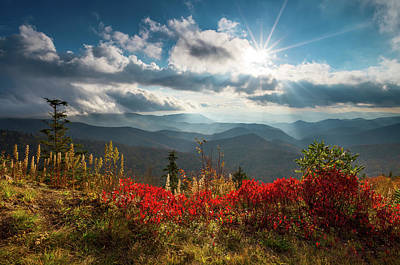 Asheville Wall Art - Photograph - North Carolina Blue Ridge Parkway Scenic Landscape In Autumn by Dave Allen