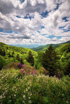Landscapes Royalty-Free and Rights-Managed Images - North Carolina Blue Ridge Parkway Scenic Landscape NC Appalachian Mountains by Dave Allen