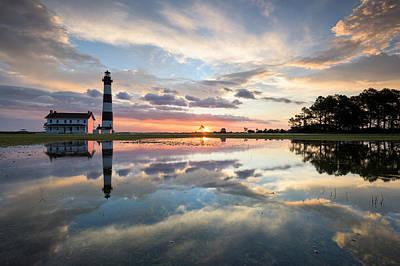 North Carolina Bodie Island Lighthouse Sunrise Art Print by Mark VanDyke