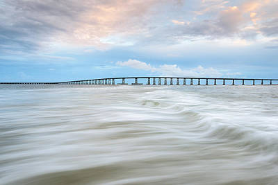 Oregon Inlet Photograph - North Carolina Bonner Bridge Oregon Inlet by Mark VanDyke