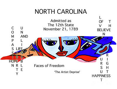 Painting - North Carolina by Deprise Brescia