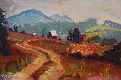 Painting - North Carolina Farm Land by Len Stomski