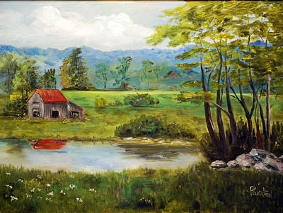 Painting - North Carolina Farm by Phil Burton
