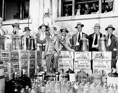 North Carolina Moonshine Bust - Prohibition Era Art Print