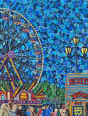 North Carolina State Fair 6 Art Print by Micah Mullen