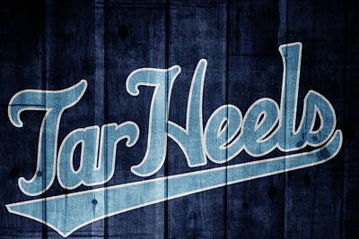 Mixed Media - North Carolina Tar Heels Barn Door by Dan Sproul