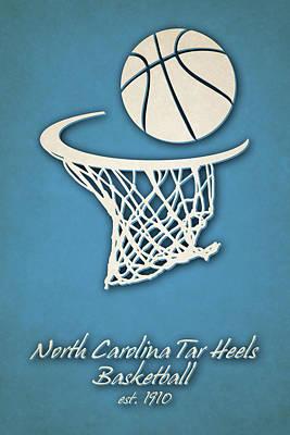 North Campus Photograph - North Carolina Tar Heels Basketball by Joe Hamilton