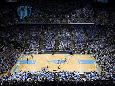 North Carolina Tar Heels Dean E. Smith Center Art Print by Replay Photos