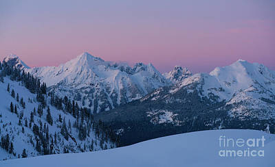 Royalty-Free and Rights-Managed Images - North Cascades Peaks at Dusk by Mike Reid