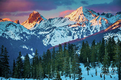 North Cascades Sunset Print by Inge Johnsson