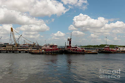 Photograph - North Charleston Tugs by Dale Powell