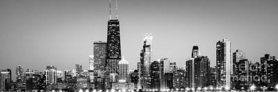 North Chicago Skyline Gold Coast Panorama Art Print