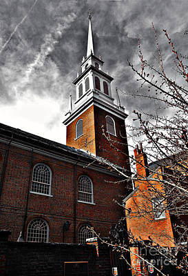 Photograph - North Church 4 Hdr by Raymond Earley