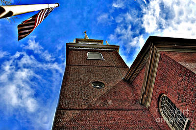 Photograph - North Church 5 Hdr by Raymond Earley