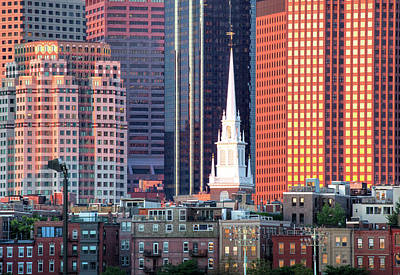 North Church Steeple Print by Susan Cole Kelly