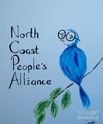 Mixed Media - North Coast People's Alliance With Bernie by Patricia Kanzler
