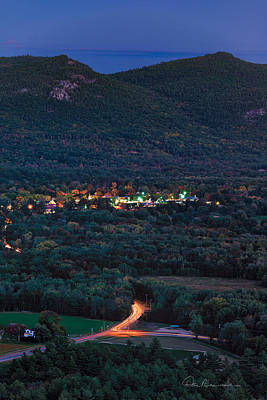 Dan Beauvais Royalty-Free and Rights-Managed Images - North Conway Dusk 6888 by Dan Beauvais
