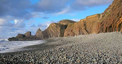 Photograph - North Cornwall Coast Near Sunset by Richard Brookes
