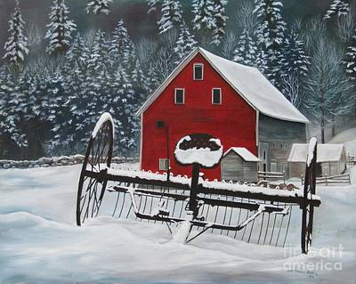 Painting - North Country Winter by Heidi Parmelee-Pratt