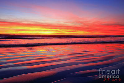 Photograph - North County Sand Ripples by John F Tsumas