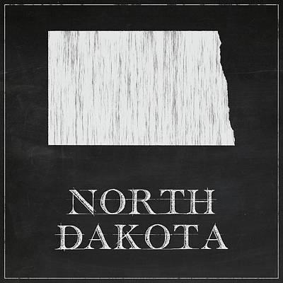 North Dakota - Chalk Art Print
