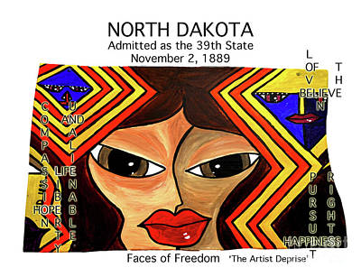 Painting - North Dakota by Deprise Brescia