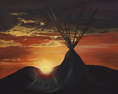 Nashville Painting - North Dakota North Dakota Mourning by K Llamas