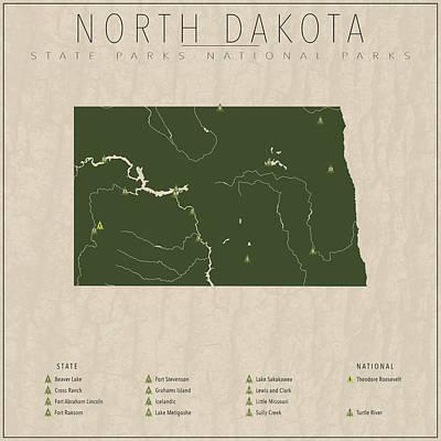North Dakota Parks Art Print