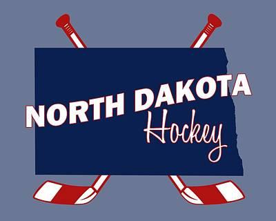 North Dakota State Hockey Art Print