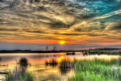 Photograph - North Dakota Sunset 1 by David Foster