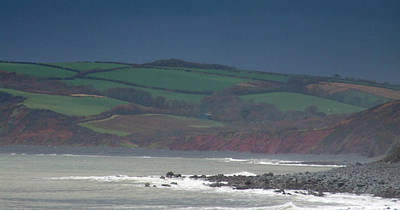 Photograph - North Devon Stormy Skies by Helen Northcott