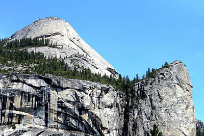 North Dome At Yosemite . 7d6255 Art Print by Wingsdomain Art and Photography