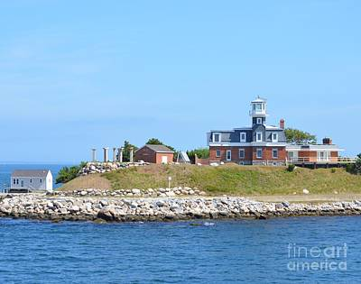 Photograph - North Dumpling Lighthouse by Michelle Welles