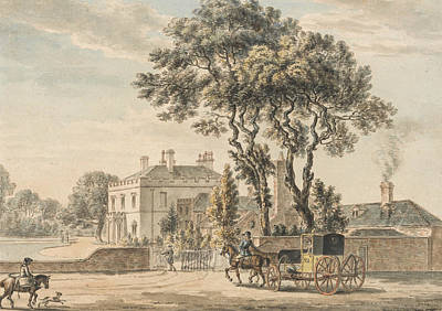 North-east View Of Sir John Elvil's House On Englefield Green Near Egham In Surrey Art Print by Paul Sandby