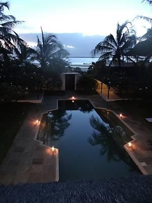 Exploramum Photograph - North - Eastern African Home - Sundown Over The Swimming Pool by Exploramum Exploramum