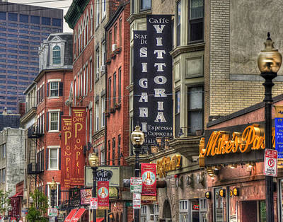 Landmarks Photo Royalty Free Images - North End Charm 11x14 Royalty-Free Image by Joann Vitali