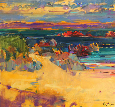 Sandy Cove Painting - North End  Iona by Peter Graham