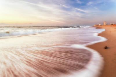 Photograph - North End Virginia Beach Sunrise Seascape by Lisa McStamp
