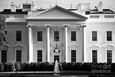 Whitehouse Wall Art - Photograph - north facade from pennsylvania avenue the white house Washington DC USA by Joe Fox