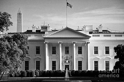 Whitehouse Photograph - north facade from pennsylvania avenue the white house with washington monument in the background Was by Joe Fox