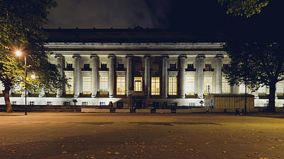 Photograph - North Facade Of The British Museum In London By Night by Jacek Wojnarowski