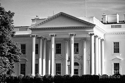 Whitehouse Wall Art - Photograph - north facade of the White House Washington DC USA by Joe Fox