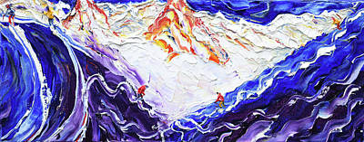Painting - North Face Valluga II by Pete Caswell