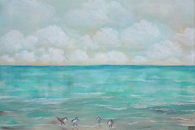 Painting - North Florida Sand Pipers by Holly Donohoe