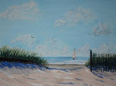 North Forest Beach Art Print by Stanton Allaben