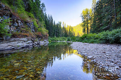 Photograph - North Fork Evening by Idaho Scenic Images Linda Lantzy