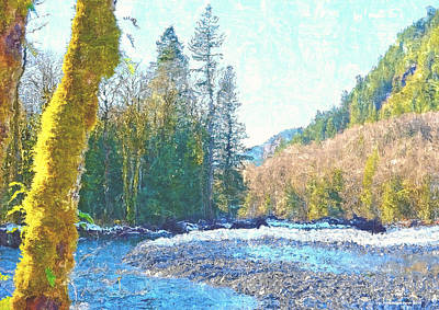 Photograph - North Fork Of The Skykomish River by Tobeimean Peter