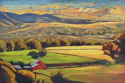 North Fork Panorama Art Print